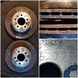 Диски тормозные облегченные задние  330/20.    34216775287