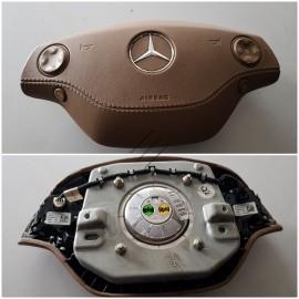 Подушка безопасности W221, W216 кожа беж