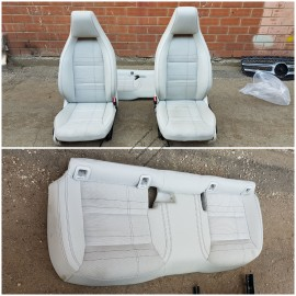 Салон (сидения)  Mercedes W176 кожа-ткань .