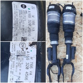 Амортизаторы передние с функцией ADS. Правый и левый A1663204666 , A1663204566 .